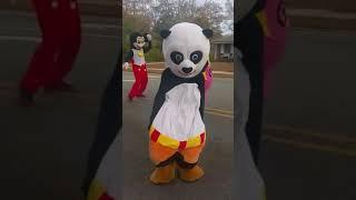 Kung Fu Panda and Dora Dancing at the Scotland County Christmas Parade