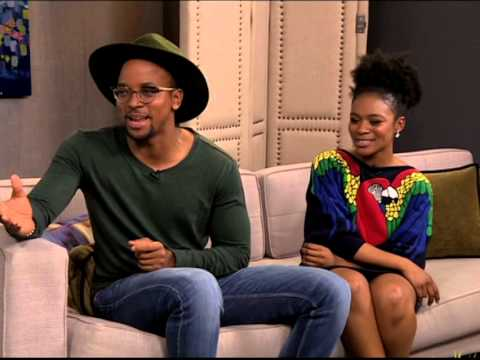 Maps Maponyane & Nomzamo Mbatha chat to Leigh-Anne