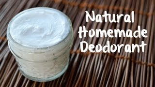 How to Make Natural Deodorant (3 ingredients!)