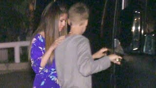 Justin Bieber's Security Scuffles With Photogs After Romantic Dinner With Selena Gomez [2012]