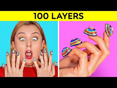 100 LAYERS CHALLENGE 100 Layers of Makeup Ultimate 100 Coats by 123 GO CHALLENGE