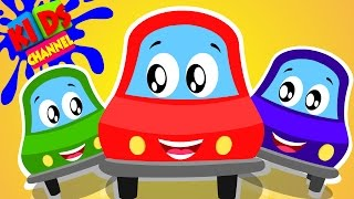 Little Red Car | Mixing Colors | Rhymes Fo  Kids
