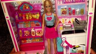Barbie doll grocery doll set box showing
