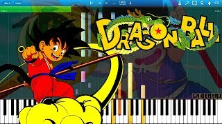 IMPOSSIBLE! Dragon Ball Opening - Get that Dragon Ball (Piano Tutorial) [Synthesia]