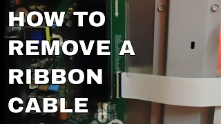 How to remove a ribbon cable from a TV logic board - TV repair