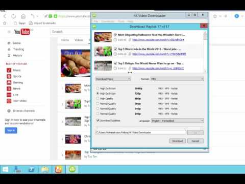 How to download all youtube playlist videos atonce - pashto tutorials