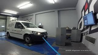 VW Caddy 1.6 tdi 75cv Reprogrammation Moteur @ 146cv Digiservices Paris 77 Dyno