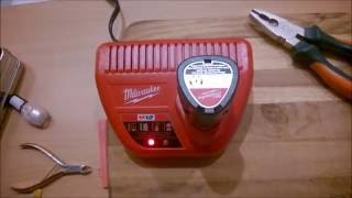 Changing a Milwaukee M12 Battery Charger from 110/120 V power to 220 Volts
