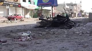 كاميرا نبأ ترصد لحظة القصف براجمات الصواريخ على مدينة الحراك بريف درعا الشرقي