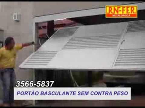 PORTÃO BASCULANTE SEM CONTRA PESO