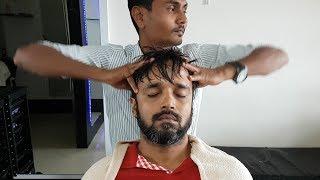 ASMR Pain killer head massage and cracking