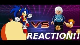 AnimationRewind: SONIC & CRASH vs RAYMAN & QUICK SILVER! Salt Assault! REACTION!!!