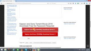 how to download full movie kapoor and sons