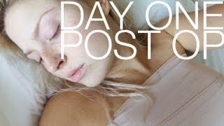 Boob Job Vlog #3 ♡ Day 1 Post Operation! Breast Augmentation