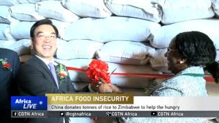 China donates tonnes of rice to Zimbabwe to help the hungry