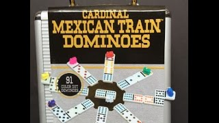 Cardinal Dominoes Double 12 Aluminum Carrying Case, www.MexicanTrainFun.com