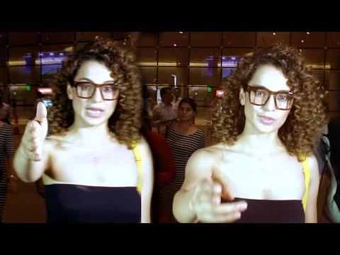 Kangana Ranaut's Sweet Gesture Saves Reporter From Falling At Airport