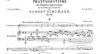 Robert Schumann: Drei Fantasiestücke Op. 73 (1849), clarinet and piano