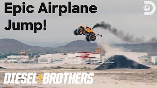Heavy D's Epic Airplane Jump! | Diesel Brothers: Monster Jump LIVE
