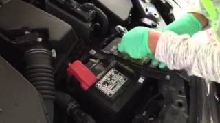 Girl Reconnecting A Car Battery... It's very easy to do!