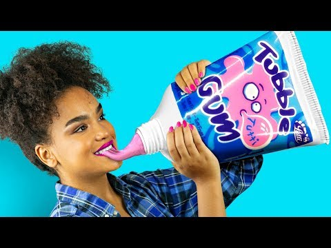 DIY Giant Candy vs Miniature Candy Funny Pranks