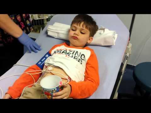 Nickolas falling asleep for spinal tap