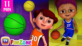 Learn Colors with Basketball - Kids Play with Colorful Playing Balls   ChuChu TV Funzone Games