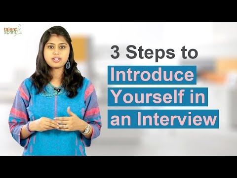 3 Steps to Introduce Yourself in an Interview | Interview Tips | TalentSprint
