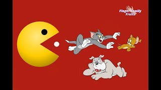 Tom And Jerry Friends Learn Colors PacMan | Finger Family
