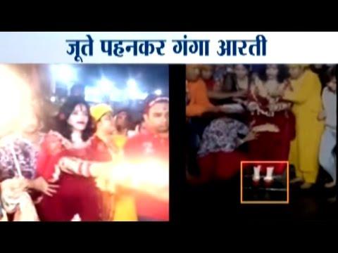Radhe Maa Sparks Controversy, Visits Har-Ki-Pauri Wearing Shoes