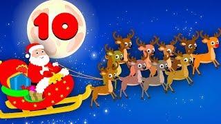Ten Little Reindeer   Ten Little Numbers   Christmas Song   Xmas Videos   Numbers Song 123