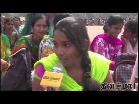 P.S.G. College Girls From Kovai Join together for Good Cause - Dinamalar March 10th News