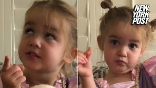 The teacher is shady': Toddler gets sassy on first day of school | New York Post
