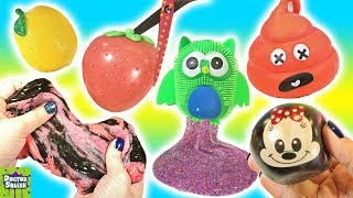Cutting Open Recycled Squishy Toys! Slime Mixing! Walking Bread! Doctor Squish