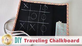 DIY Traveling Chalkboard | a Shabby Fabrics Craft Sewing Tutorial
