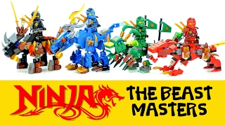 Ninjago Beast Masters w/ Kai Lloyd Jay & Cole Unofficial LEGO Knockoff Set