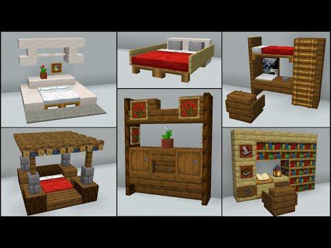 Minecraft 40 Bedroom Build Hacks and Ideas