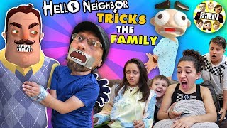 Hello Neighbor Tricks FGTEEV Family!  Duddz in Trouble! (Funny Jumping Game + Skit)