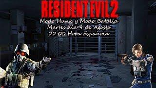 Resident Evil 2 Intentos Modo Hunk y Modo Batalla