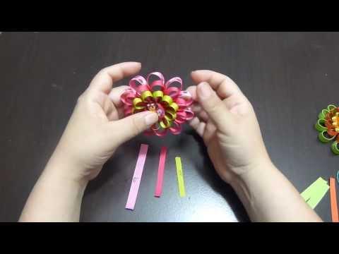Hermosas flores en cinta delgada para decorar accesorios del cabello 182 Manualidades La Hormiga