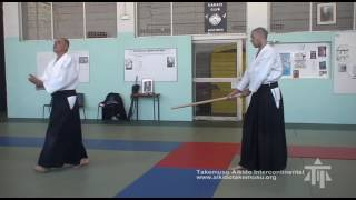 Tachi dori kokyu nage #2 (sokumen): entrée avec ou sans hito e mi
