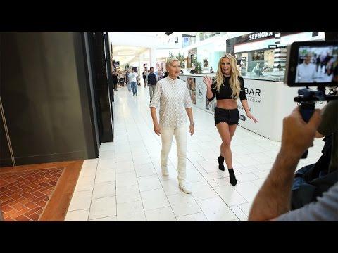 Ellen and Britney Spears Mall Mischief