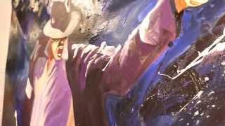 Peinture Michael Jackson Dirty Diana - Live Performance Rémi Bertoche