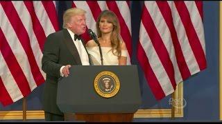 Trumps Speak At Inaugural Ball