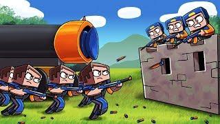 Minecraft - NERF WAR BASE CHALLENGE: Blue vs Orange! (NERF WAR MODS)