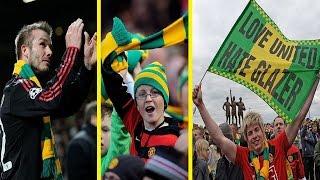 لماذا تحمل جماهير مانشستر يونايتد اللون الأخضر والأصفر؟ قصة تستحق كل الإحترام !