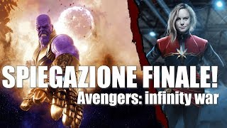 SPIEGAZIONE FINALE AVENGERS INFINITY WAR [scena post-credit   Captain Marvel]