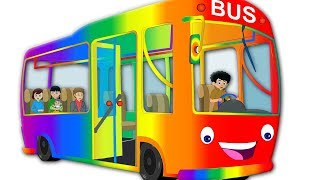 Wheels on the bus | nursery rhymes | music for kids | baby videos for children