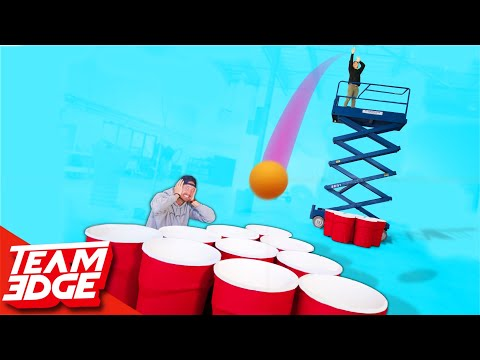 Giant Cup Pong With a Skylift Punishment edition
