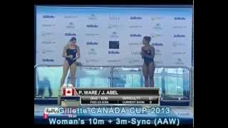Woman's 10m + 3m Sync - Gillette CANADA CUP-2013